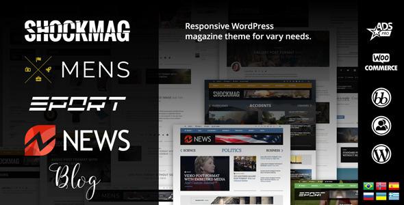 Shockmag 杂志博客 wordpress主题 v1.0.3