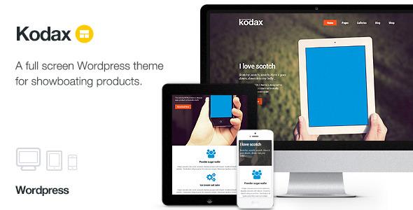 Kodax 全屏着陆 WordPress主题 v1.8