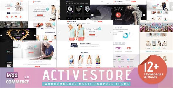 ActiveWear WooCommerce购物商城 wordpress主题[v1.1.5]