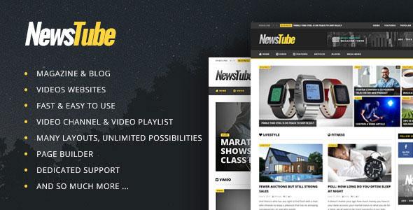 NewsTube 视频杂志 WordPress主题 v1.4.4