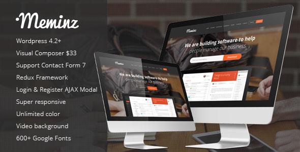 Meminz 软件APP着陆页 WordPress主题 v1.5