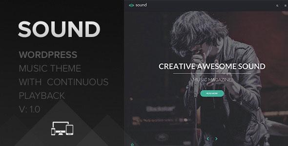 Sound 音乐 WP主题 v1.1