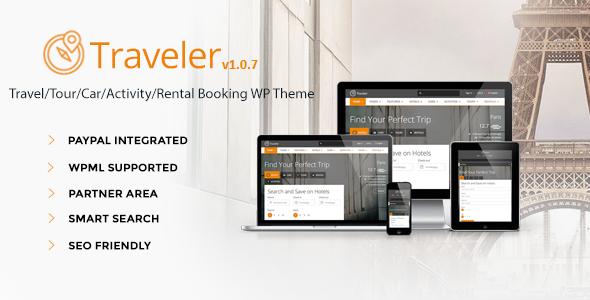Traveler 旅游酒店预订 WordPress主题 v1.1.9.1