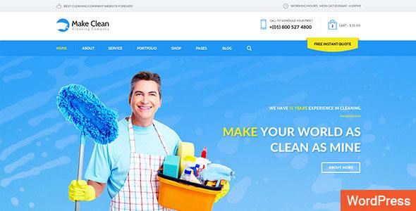 Make Clean 清洁保洁公司 WordPress主题 v1.0.3
