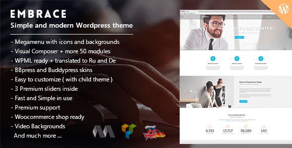 Embrace 创意企业 WordPress主题 v1.5.6