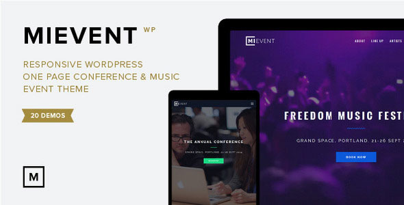MiEvent 音乐/活动 WordPress主题
