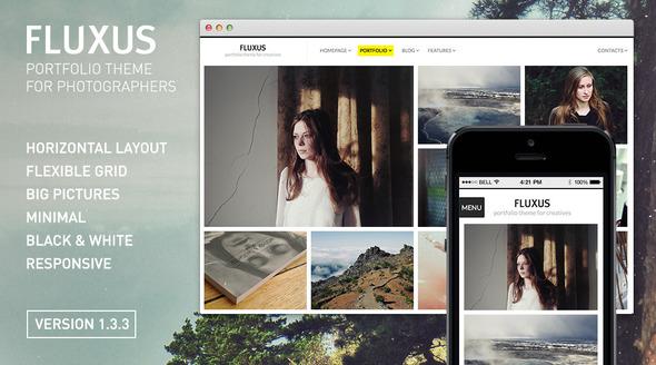 Fluxus 摄影&作品展示 WordPress主题[v1.4.1]