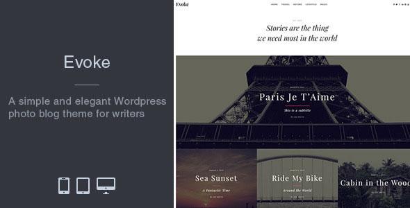 Evoke 摄影博客 WordPress主题 v1.3