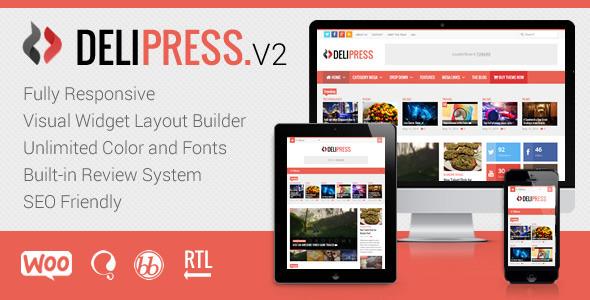 Delipress 杂志评级 WordPress主题 v2.5.1
