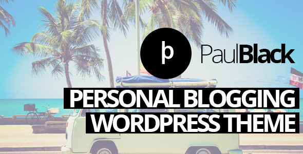 PaulBlack 博客 WordPress主题 v1.7