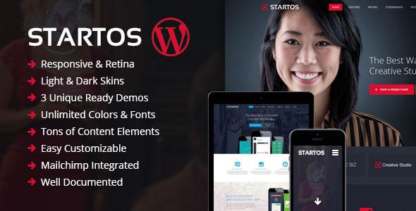 Startos 时尚APP着陆页 WordPress主题 v1.0.1