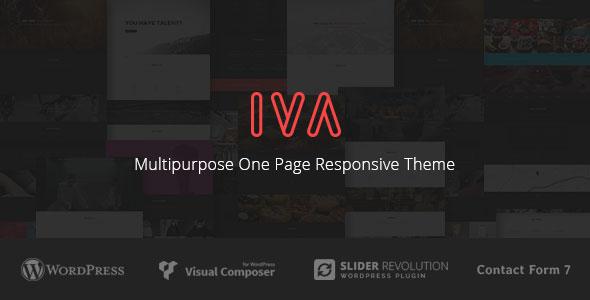 Iva 多用途单页 WordPress主题