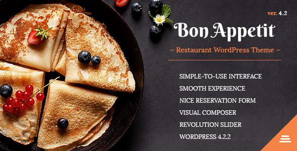 Bon Appetit 餐饮餐厅 WordPress主题 v4.2