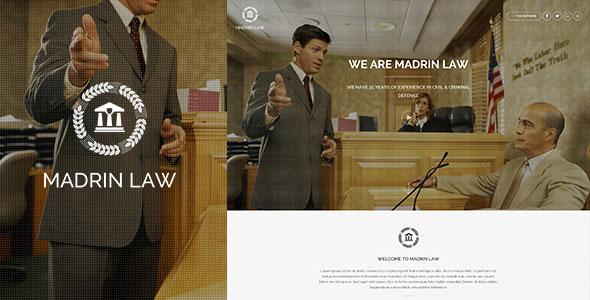 Madrin 单页律师事务所 WordPress主题 v1.0.7