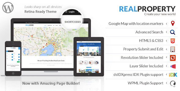 Real Property 地产置业租售 WordPress主题 v1.8.1