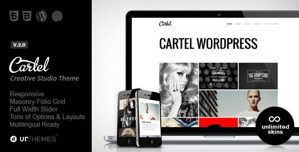 Cartel 作品展示 WordPress主题 v2.0