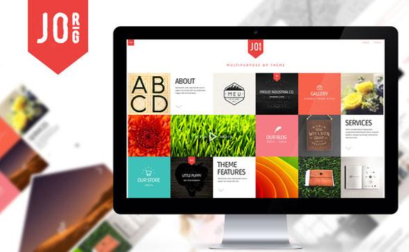 Jorg 多用途杂志作品展示Metro瓷砖风格 WordPress主题v1.5
