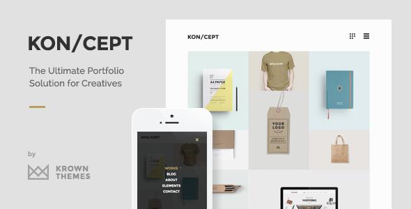 KON/CEPT 创意马赛克瀑布流极简作品展示 WordPress 主题中英文版 v1.6.2