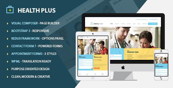 Health Plus 卫生医疗 WordPress主题