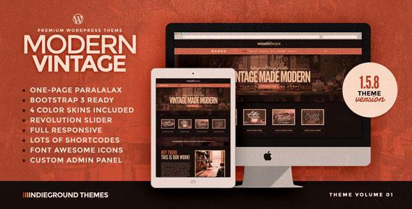Modern Vintage 单页 WordPress主题 v1.5.8