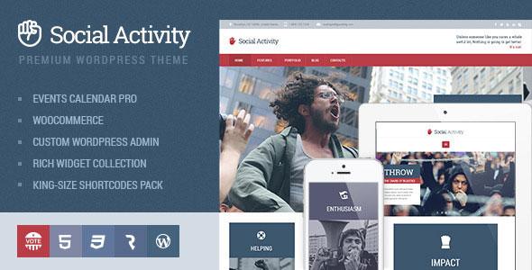 Social Activity 政府 WordPress主题 v1.1.6