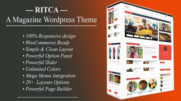 Ritca 博客杂志 WordPress主题 v1.7