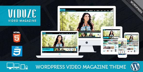 Viduze 视频杂志 WordPress主题 v1.5