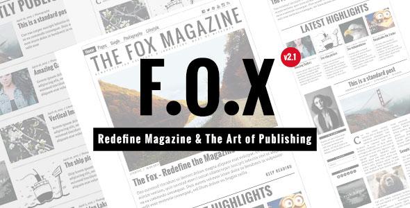 The Fox 杂志 WordPress主题 v2.1.2