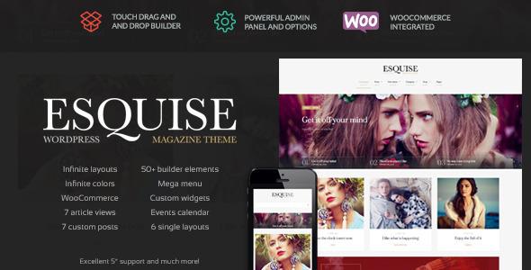 Esquise 杂志博客 wordpress主题 v1.0.7