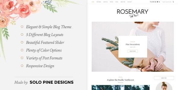 Rosemary 博客 WordPress主题 v1.2