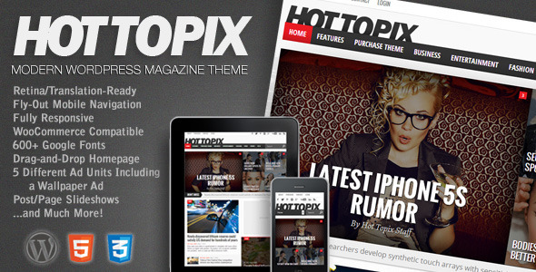 Hot Topix 杂志 WordPress主题[更新至v2.9.1]