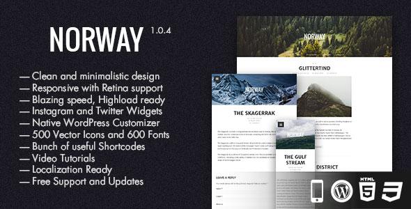 Norway 博客 WordPress主题 V1.0.2