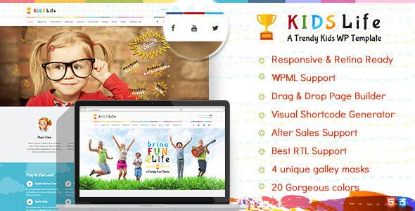 Kids Life 儿童 WordPress主题 v1.4.3