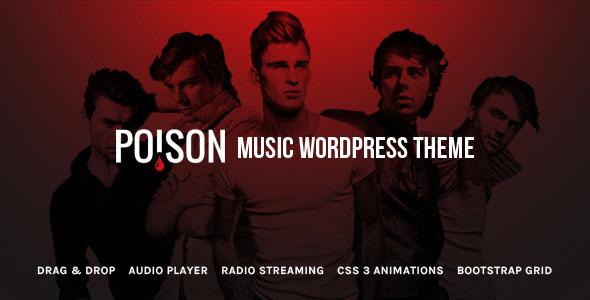 Poison 音乐品牌 WordPress主题 v1.0.3