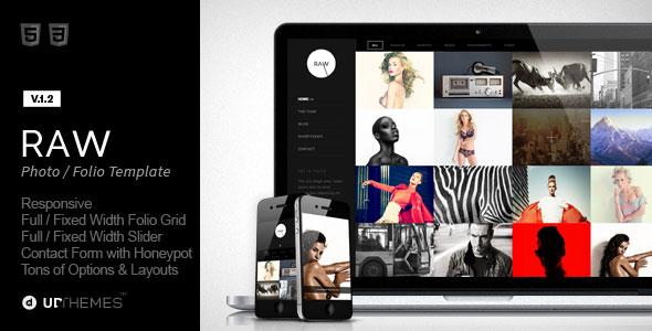 Raw 摄影 HTML模板