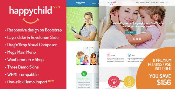 HappyChild 儿童孩子 WordPress主题 v4.1