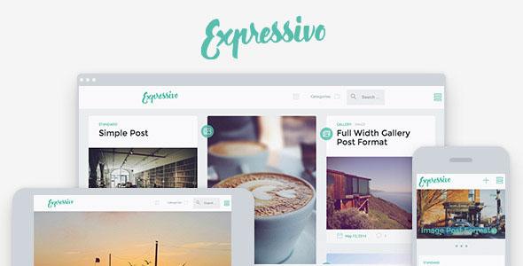 Expressivo 瀑布流博客 WordPress主题 v1.1