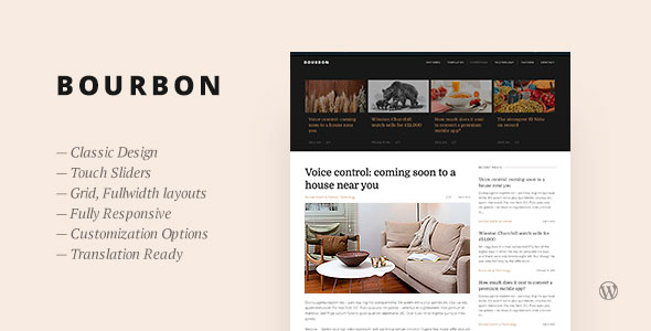 Bourbon 博客 WordPress主题 v1.4
