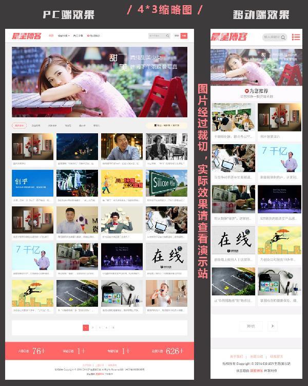WordPress图片主题自适应CX-UDY主题免费发布
