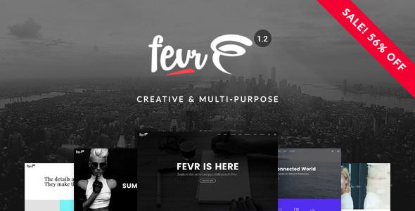 Fevr 创意多用途 WordPress主题 v1.2.1