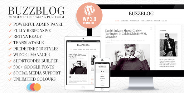 BuzzBlog 博客 WordPress主题 v2.5